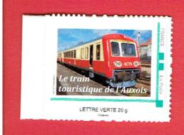 FRANCE TIMBRE NEUF LE TRAIN TOURISTIQUE DE L AUXOIS 2013 AUTORAIL ACTA LES LAUMES ALESIA SEMUR EN AUXOIS EPOISSES - Frankrijk