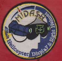 EMBLEM. TEXTILE MIDASH ELBIT HELICOPTER DISPLAY SIGHT HELMET - Helicopters