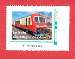 FRANCE TIMBRE NEUF LE TRAIN TOURISTIQUE DE L AUXOIS 2013 AUTORAIL ACTA LES LAUMES ALESIA SEMUR EN AUXOIS EPOISSES - France
