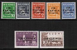 1941 Finland, Itä-Karjala (East Carelia) 1 - 7 **. - Finland