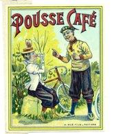 ETIQUETTE RARE VERNIE DEBUT XXEME LIQUEUR  POUSSE CAFE VELO CYCLISTE - Etiquettes