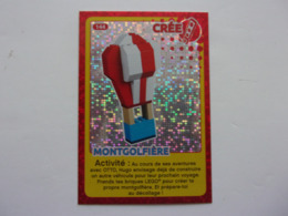 Carte LEGO AUCHAN CREE TON MONDE N°144 Montgolfière Balloon Ballon Globo - Autres Collections