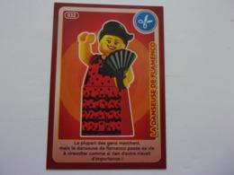 Carte LEGO AUCHAN CREE TON MONDE N°32 La Danseuse De Flamenco - Autres Collections