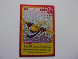 Carte LEGO AUCHAN CREE TON MONDE N°109 Avion Flugzeug Plane - Autres Collections