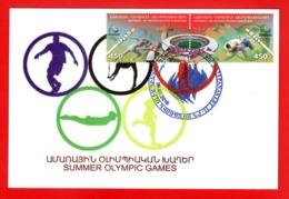 Armenia Karabakh 2016, XXXI Summer Olympic Games Rio De Janeiro, Stadium - Card Maximum - Sommer 2016: Rio De Janeiro
