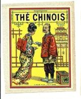 ETIQUETTE RARE VERNIE DEBUT XXEME THE CHINOIS - Etiquettes