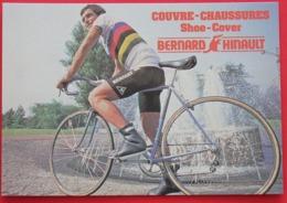 Cyclisme : Tour De France,  Bernard Hinault, Champion Du Monde , Pub  Shoe Cover - Cyclisme