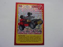 Carte LEGO AUCHAN CREE TON MONDE N°45 Véhicule Tout Terrain Voiture Car Carro Auto - Autres Collections