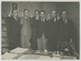 Comité Jeunesse Nouvelle , émanation De La JOC . Maurice Cliquet André Blambert Georges Montaron . Nov. 1941 . Vichy . - Identified Persons