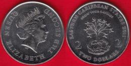 "Eastern Caribbean States 2 Dollars 2011 Km#87 ""Financial Information Month"" UNC - Caribe Oriental (Estados Del)"