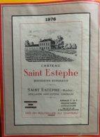11658 - Château Saint Estèphe 1976 Grande étiquette 13.3x17.8 - Bordeaux