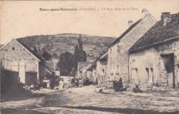 Cpa BOUX SOUS SALMAISE LA RUE PRISE DE LA PLACE - Autres Communes