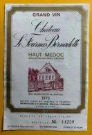 11660 - Château Le Fournas Bernadotte 1975 - Bordeaux