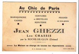 Cdv  Au Chic De Paris  Ghezzi  La Roche De Glun - Cartes De Visite