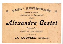 Cdv  Costet  La Louvesc (ardeche) - Cartes De Visite