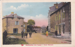 Cpa MORTEROLLES ROUTE NATIONALE Carte Couleur 1945 - France