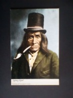 Indian Chief Top Hat - Newer Postcard - Indiani Dell'America Del Nord