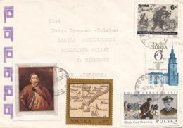 POLSKA 1985? - 5 Fach Frankierung Auf Brief Gel.n. Irland - 1944-.... Republik