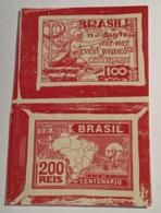 "Brazil 1927 ""JUSTICE + MAP OF BRASIL / CURSOS JURIDICOS"" Rare Die Proof Sc. 288-89 (Brésil Law Lawer Avocat Jura Loi - Brazilië"