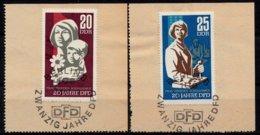 DDR 1967  Mi.nr. 1256-1257 Demokratischer Frauenbund  OBLITÉRÉS-USED-GEBRUIKT - [6] République Démocratique