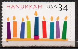 USA 2001 34¢ Hanukkah - Unused Stamps