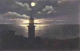 CONSTANTA / ROMANIA : FARUL DE PE BULEVARD [ NOCTURNA / À LA LUNE / NIGHT VIEW ] ~ 1925 - '930 (ac924) - Roumanie