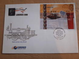 Argentine FDC, Trains Londres 2000 - Trenes