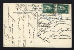Postal Enviado De LISBOA Para Legação Portuguesa Em PORTMAN SQUARE Londres UK. WWI Ww1 War Military Mail 1917 - Marcophilie