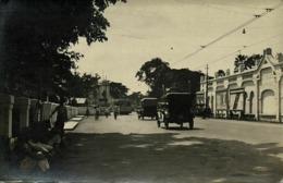 Indonesia, JAVA SOERABAIA, Unknown Street Scene, Car Tram (1910s) RPPC Postcard - Indonesië