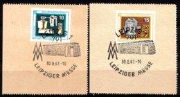 DDR 1967  Mi.nr. 1306-1307 Leipziger Herbstmesse  OBLITÉRÉS-USED-GEBRUIKT - [6] République Démocratique
