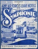 40 60 MILITARIA WW2 US ARMY AIR FORCE NICE CANNES HÔTEL LUXE PARTITION SYMPHONIE TABET BERNSTEIN ALSTONE 1945 - Musique & Instruments