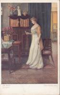 DER BRIEF - Künstlerkarte Um 1910, Gel.mit 5 Gro Frank.+Sonderstempel 1953 - Künstlerkarten