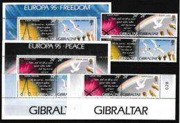 1995 Gibilterra Gibraltar EUROPA CEPT EUROPE 3 Serie Di 4v. MNH** - Europa-CEPT