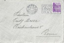 Brieflein  Bern  (Flagge:  Eishockey WM Davos)           1935 - Svizzera