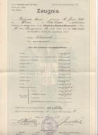 ZEUGNIS Aus Dem Jahr 1900, Mädchen Bürgerschule In Wien - Historische Dokumente