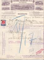 RECHNUNG Der Fa. GEORG SCHICHT A.G. AUSSIG 1913, 10 H Stempelmarke, A4 Format, Gelocht Und Gefaltet - Autriche