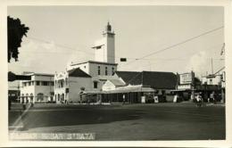 Indonesia, JAVA SOERABAIA, Pasar Besar, Cinema (1940s) RPPC Postcard - Indonesië