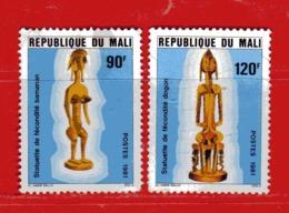 (Us3) MALI °  -1981 - STATUETTES Du MALI - Yvert  405-407. Oblitérer. - Mali (1959-...)