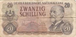 20 SCHILLING BANKNOTE ÖSTERREICH 1956? Umlaufschein - Autriche