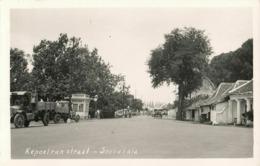Indonesia, JAVA SOERABAIA, Kepoetran Straat, Socony Gas (1930s) RPPC Postcard - Indonesië
