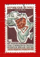 (Us3) MALI °  -1964 - INVASION Du CRIQUET  - Yvert  60. Oblitérer. - Mali (1959-...)