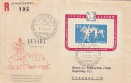 Brief: LUNABA LUZERN 1951. Nach Dornach. LUNABA Block W32 / Mi: Bl 14 - Blocs & Feuillets