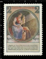 Old Poster Stamp Cinderella Reklamemarke Erinnofili Vignette Woman Frau. - Cinderellas