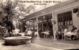PUCIOASA / DÂMBOVITA : RESTAURANT FRATII BENU - CARTE VRAIE PHOTO / REAL PHOTO POSTCARD ~ 1930 (ac931) - Roumanie