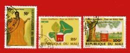 (Us3) MALI ° - 1991-1989   -  Yvert. 569 + PA.537-538. Oblitérer. - Mali (1959-...)