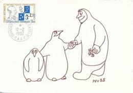 TAAF - Dumont D'Urville-T.Adélie: Carte Illustrée PE Victor Avec Timbre N°157 Douguet - 12/02/1992 - Brieven En Documenten