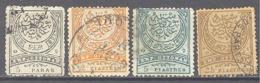 Turquie: Yvert N° 61/64 - 1858-1921 Empire Ottoman