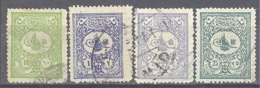 Turquie: Yvert N° 91/96; 4 Valeurs - 1858-1921 Empire Ottoman