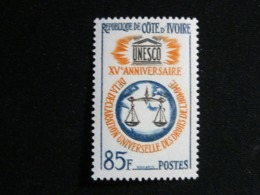 Ivory Coast, 1963 Universal Declaration Of Human Rights 15th Anniv., Scott #211 MNH Cv. 2,25$ - Costa D'Avorio (1960-...)