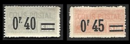 COLIS 1926 - Majoration - YT 36 Et 37 - Nsg - Spoorwegzegels